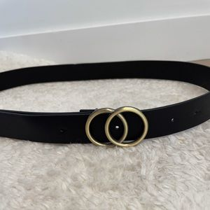 Black Belt with 2 Circle Buckle